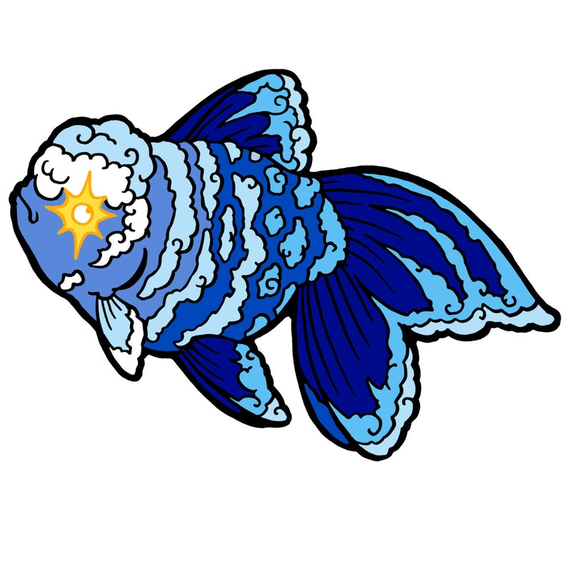 Holographic Sticker: Cloud Goldfish image 0