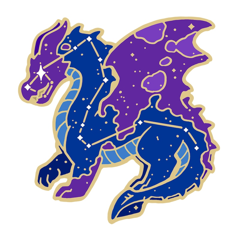 Metallic Sticker: Constellation Draco image 0