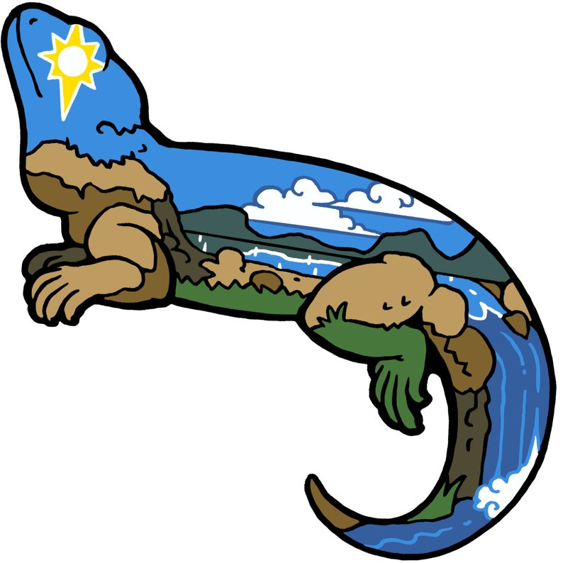 Sunshine Beardie Sticker image 0