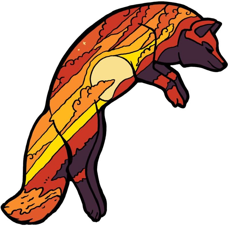Dusk Fox Sticker image 0