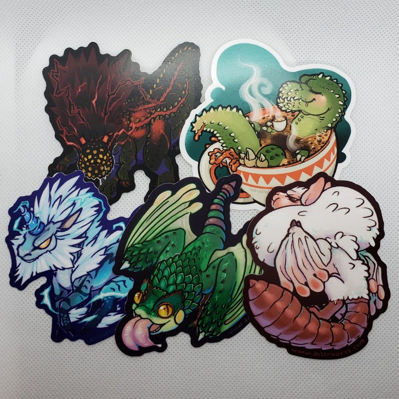 Monster Hunter Cuties Stickers: Group 2 image 0