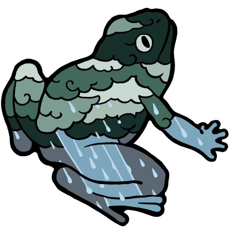 Rainstorm Frog Sticker image 0