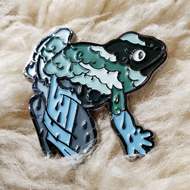 Rainstorm Frog Enamel Pin: Wild Sky image 0