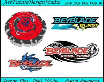 BeyBlade svg, BeyBlade Burst svg, BeyBlade Metal Fusion, BeyBlade Force, printable, Cut files, SVG, Ai, Eps, Dxf, Png 300 dpi
