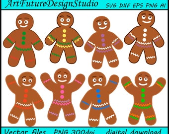 The Gingerbread Man svg, Gingerman svg, Christmas Cookies svg, printable, Cut files, SVG, Ai, Eps, Dxf, Png 300 dpi