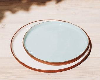 Ceramic Plates Set | Large And Medium Plate | Handmade Pottery | Tableware Set | Dinnerware Set | Ceramic Plate | Set of Two Plates