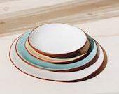 Ceramic Plates Handmade | Plate Set | | Plates Set of 4 | Dinnerware | Pottery Plates | Tableware | Plates and Bowls | Ceramic Plates White