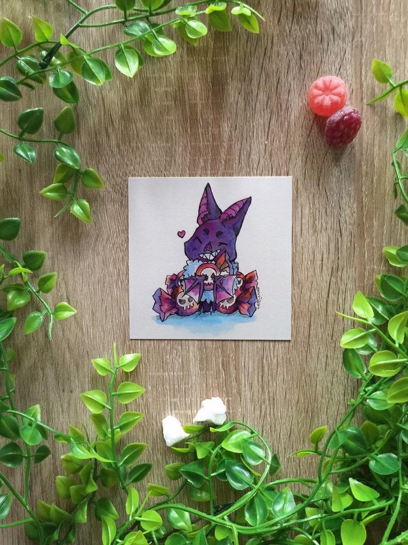 Bat Sugar Rush Watercolor Watercolor Print bat sugar