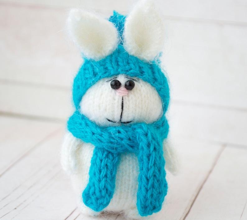 Amigurumi bunny Miniature rabbit toy Crochet animal bunny Knitted ... | 707x794