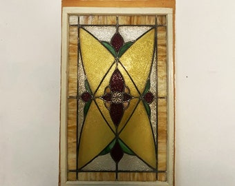 Victorian Stained Glass Panel c1880