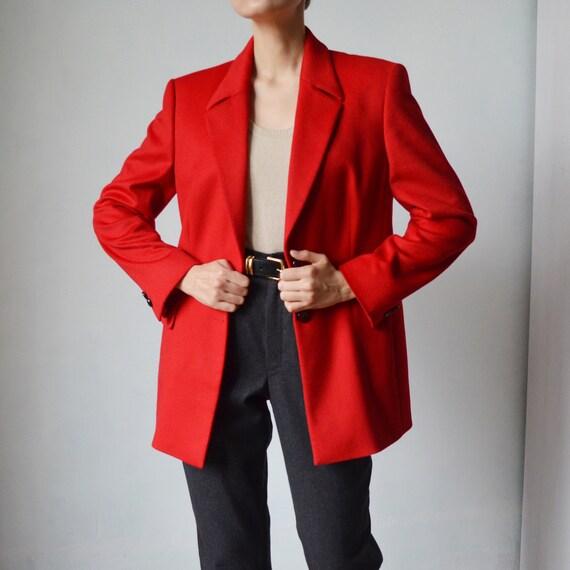 Escada gorgeous woolen red women's blazer