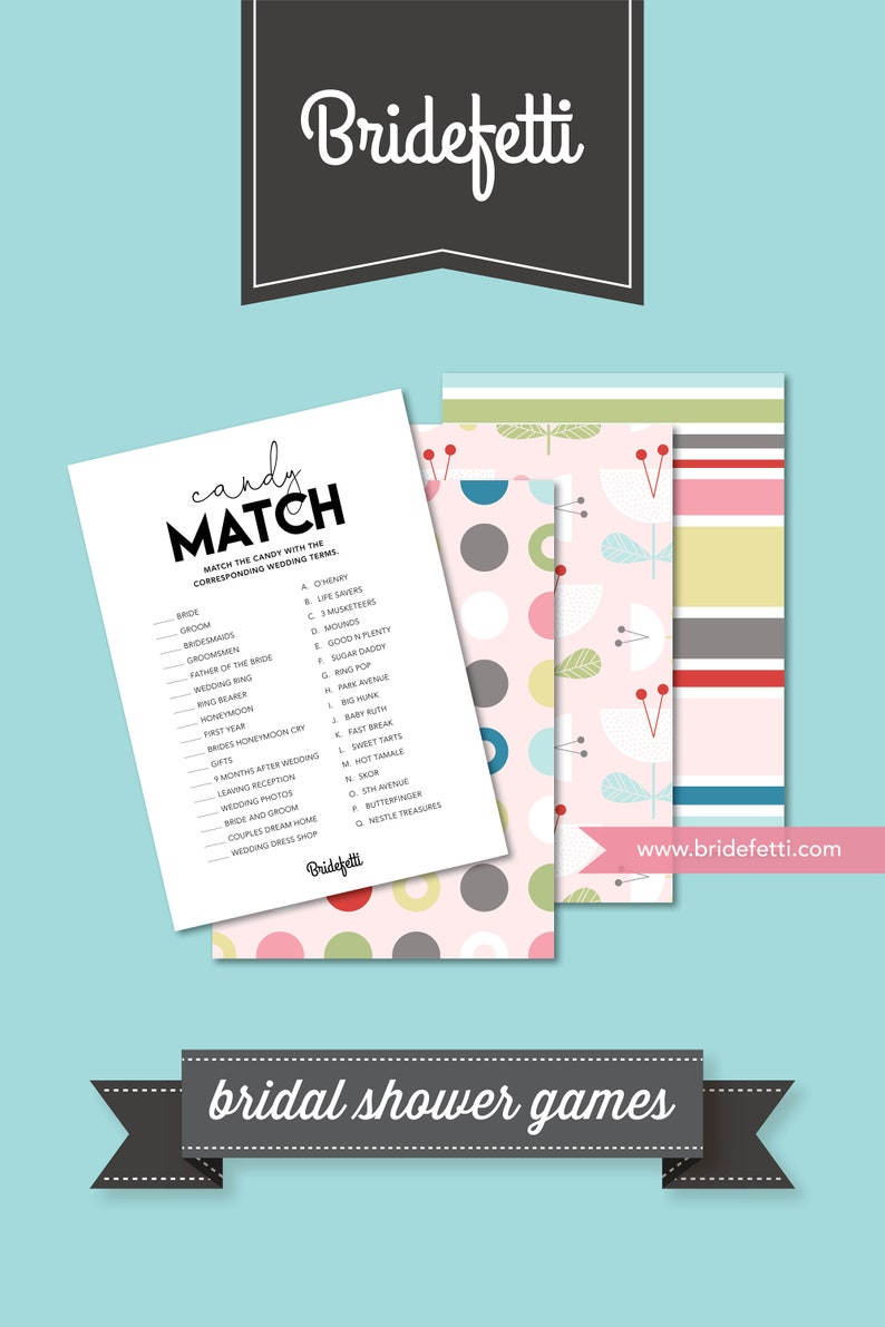 b558f3214acc2 Printable Bridal Shower Candy Bar Matching Game, Wedding Shower Candy Game  INSTANT DOWNLOAD, Bridal Candy Game Digital Download, BRF301-41