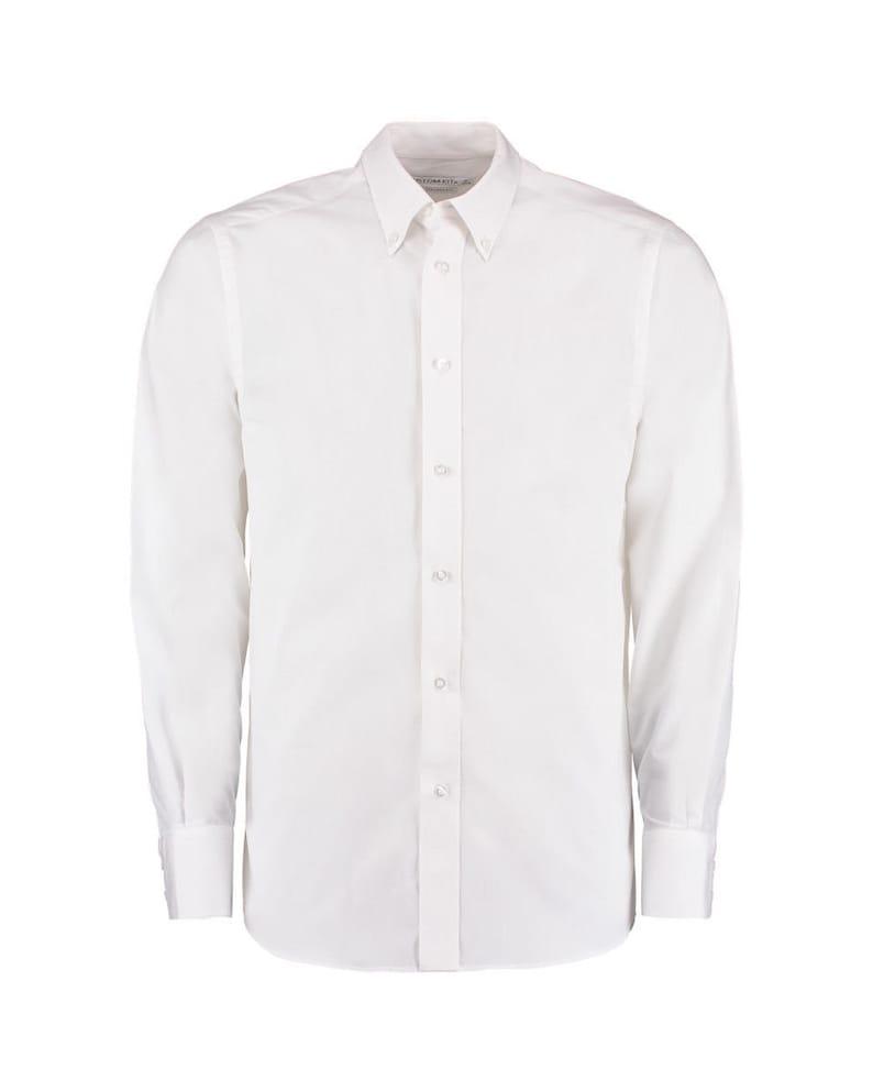 Kustom Kit Men/'s Tailored Fit Long Sleeve Business Shirt