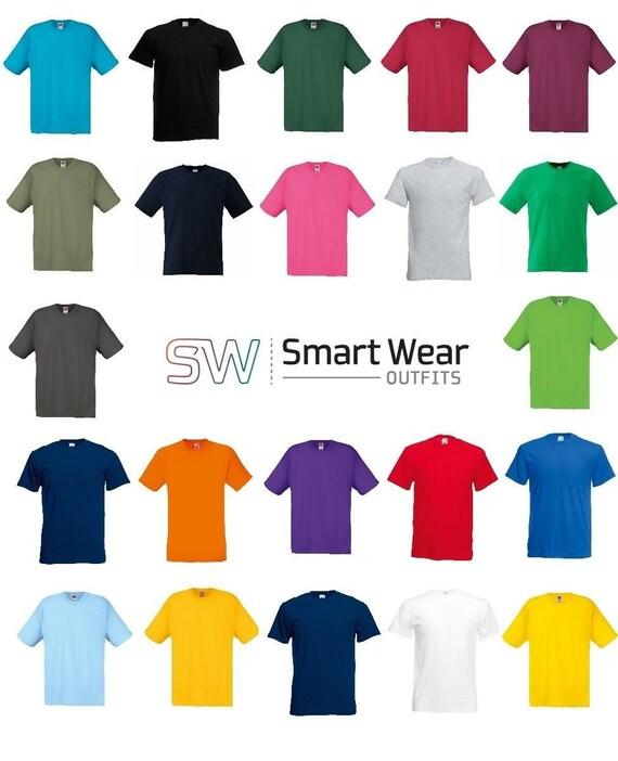 5 Pack Fruit of the loom Mens Black Tee Plain 100/% Cotton T Shirt New S M L XL