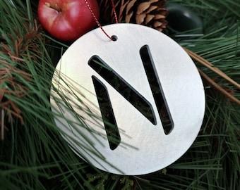 """Letter """"N"""" Christmas Ornament – Unique Christmas Ornament"""