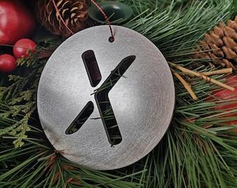 """Letter """"X"""" Christmas Ornament – Unique Christmas Ornament"""