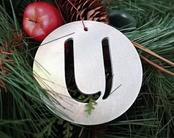 """Letter """"U"""" Christmas Ornament – Unique Christmas Ornament"""