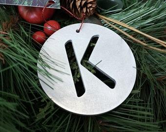 """Letter """"K"""" Christmas Ornament – Unique Christmas Ornament"""