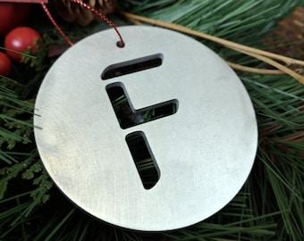 """Letter """"F"""" Christmas Ornament – Unique Christmas Ornament"""