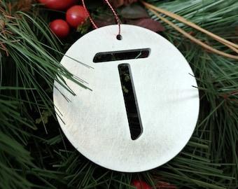 """Letter """"T"""" Christmas Ornament – Unique Christmas Ornament"""