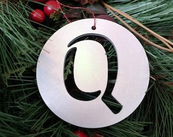 """Letter """"Q"""" Christmas Ornament – Unique Christmas Ornament"""