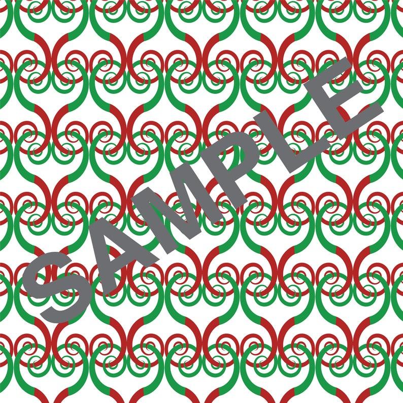 Transparent Christmas Seamless Pattern 16 Swirls Spirals Digital Papers Instant download Digital pattern