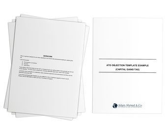 printable ato objection template example capital gains taxdigital download australia legal forms legal documents