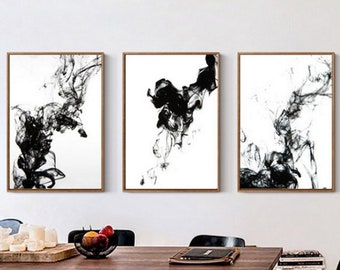 Black And White Abstract Art Etsy