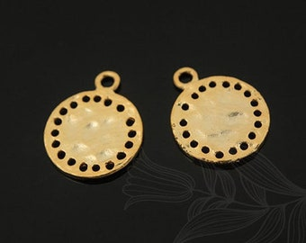 M1309-2pcs-10.5mm-Matt Rhodium Plated-Coin Pendant,Coin Charm,layering charm-S