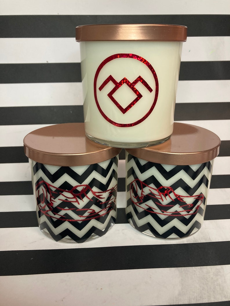 Twin PeaksFire Walk with Me Log Lady Hand Poured 10 oz Candle Scented in woodsy blend of Cedar and Balsam Fir