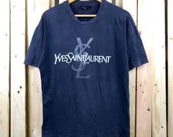079773aaf7beb Vtg rare 90s yves saint laurent biglogo spellout shirt !! YSL shirt   YSL  TEES