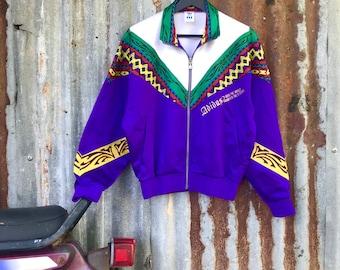 VTG 90er Jahre ADIDAS multicolor Spellout Jacke   Streetwear-Mode mit  schönen Farbe schönes Design! d29159b812