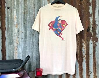 352249f55fe7 Vintage 70s superman shirt / rare item , vintage superman cartoon/movie and  film shirt ! Nice print .