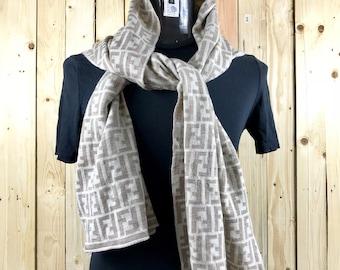 2866ec7aa0870 FENDI MONOGRAM scarf made in italy   fendi scarf fullprint   fendi zucca