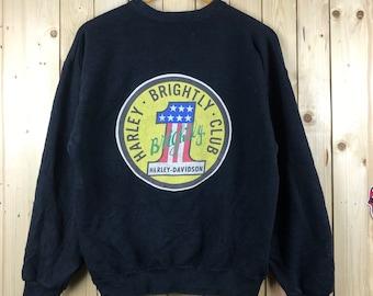 fda154ba8a1 Vintage rare 90s 1st america harley davison club sweatshirt ! Nice design  america motorcycle sweatshirt
