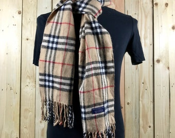 ac1c7883d5a Authentic Burberrys london   burberrys nova check scarf made in england