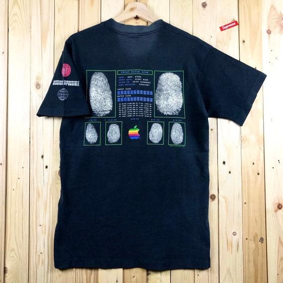Vintage apple computer rainbow apple logo computer