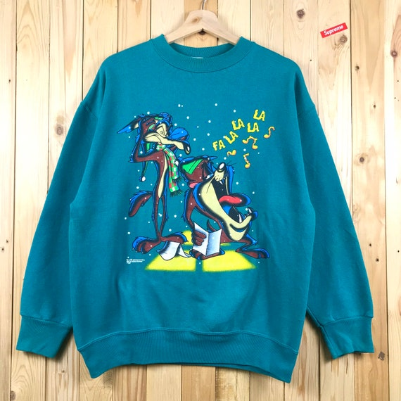 Vintage legend cartoon tazmanian looney tunes swea