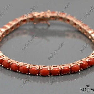 92.5 Sterling Silver Bracelet Italian Coral bracelet Adjustable bracelet Mediterranean Coral bracelet Coral Vintage Jewelry B283 BEAUTIFUL!