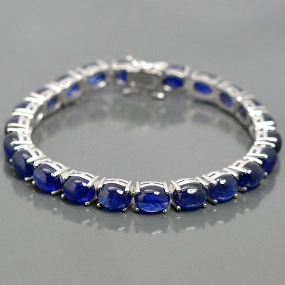 Multi Color Sapphire bracelet,Sapphire bracelet,Sapphire jewelry,Genuine sapphire bracelet,Natural sapphire bracelet,sterling silver sapphire bracelet,September birthday bracelet, 6.5,7,7.5,8,8.5