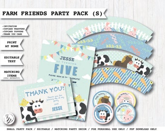 Personalised Printable Invitations,Bunting Labels Cake Toppers PopcornBox BICYCLE Kids at-Home Birthday Party Pack Hat