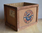 Vintage 1950 39 s Player 39 s Navy Cut Wooden Crate Storage Box Packing Case 50cm x 39cm x 39cm