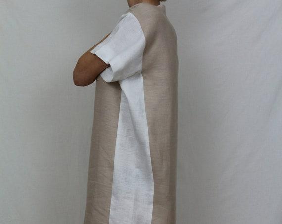 Linen dress / Summer dress / Linen kaftan / Size M