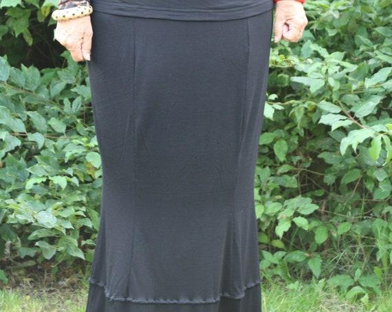 Black skirt/ Womens black skirt / Long skirt / Womens skirt / Long black skirt / Plus size skirt
