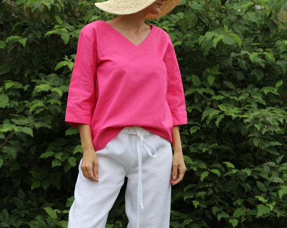 Linen top/ Linen tunic/ Linen top for women/ Summer tunic