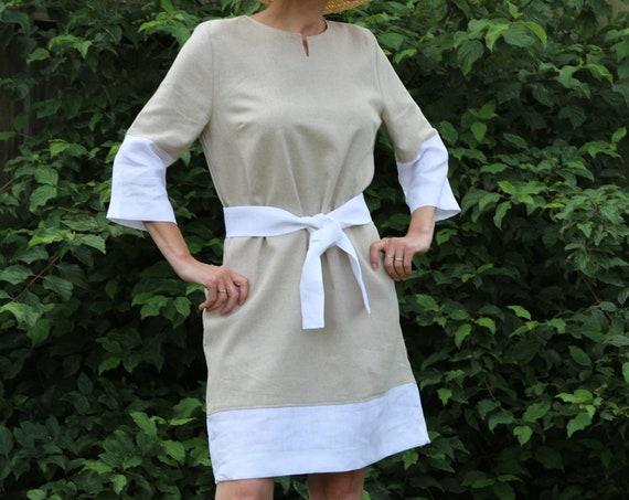 Linen dress / Summer dress / Linen kaftan / Linen dress for women / Midi linen dress / Womens linen dress