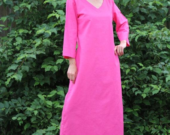Linen dress for women / Summer dress / Linen kaftan / Linen dress / Linen maxi dress / Womens linen dress