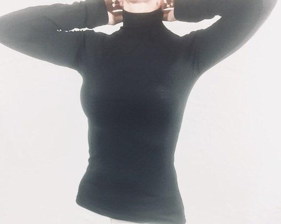 Womens top/ Turtleneck top / Womens red top / Long sleeve top / Turtleneck top womens / Black tops for women / Tops for women
