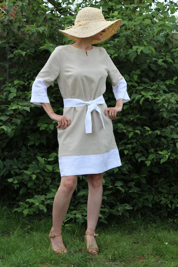 Linen dress for women / Summer dress / Linen kaftan / Linen dress  / Womens linen dress / Midi linen dress
