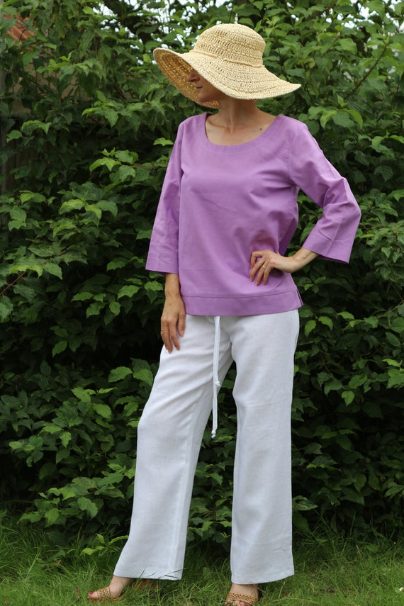 Linen top / Linen tunic / Summer top / Linen top for women